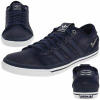 adidas Original Vespa GS Lo Mens Trainers Canvas Dark Indigo Shoes