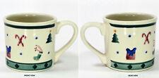 Hartstone Pottery CHRISTMAS TRADITIONS 14oz Mug Icons Candy Cane Stocking Tree