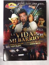 La Vida Por Mi Barrio, 4 Peliculas, DVD, 2009,  New