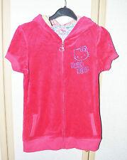 M&S Girls Cotton Rich Pink Velour Hello Kitty Hoodie Age 13-14 VCG