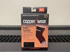 Copper Wear Supportive Athletic Compression Knee Sleeve. NEW! XXL, Black. Unisex