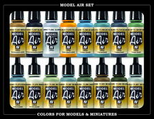Vallejo Model Air Acrylic Colour Paint Set - WWII British Aircraft RAF & FAA