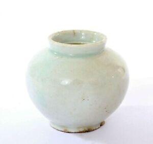 Joseon Dynasty Korean White Glaze Pottery Ceramic Small Jar Vase