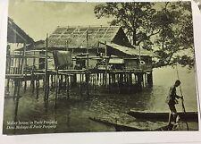 Malay House In Pasir Panjang, Singapore Early 20th Century Postcard