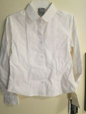 French Toast Girls Uniform Peter Pan Collar White Blouse L 10/12 New With Tags