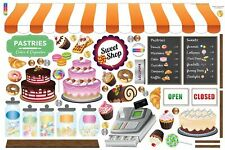 Bakery Decal Set-REUSABLE-REMOVABLE-durable/cool/fun/high quality decals