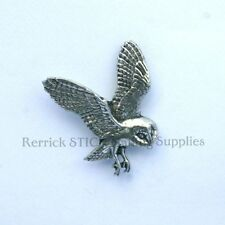 ONE PEWTER BADGE FOR WALKING STICK MAKING OWL