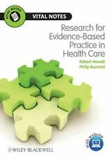 Vital Notes for Nurses: Research for Evidence-Based Practice in Healthcare by...