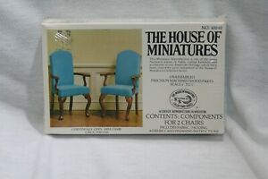 The House Of Miniatures No. 40040 Chippendale Open Arm Chairs (2) SEALED NEW