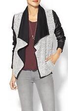 Hive & Honey Women's Black Vegan Leather Sleeve Jacket Blazer Size M $150