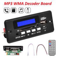 12V MP3 WMA Decoder Board Audio Module USB TF Radio Bluetooth Car Music Player