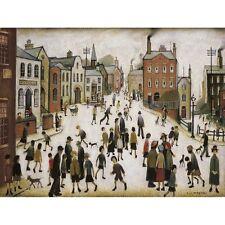 A Village Square - L S Lowry Print