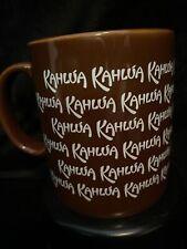 Kahlua Coffee Cup Mug Brown Kahula Warm Hot Drink Ceramic Kiln Craft England