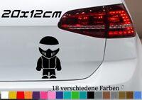Helm Mänchen 20x12cm Motocross Tuning Aufkleber Bomb JDM OEM Lustig Sticker