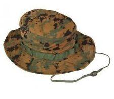 US Woodland Digital USMC MARPAT Combat Army Cap Hat Sun ha Boonie M/Medium