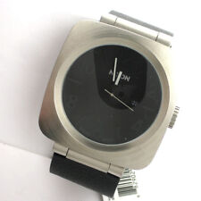 Nixon A117000-00 Volta Mens Watch Stainless WR Date Black Leather Band