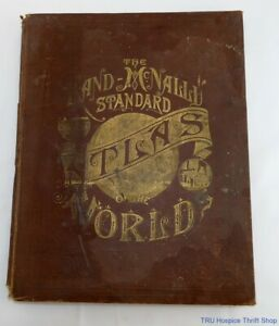 Antique 1887 Rand McNally Standard Atlas of the World, Continental Publishing Co
