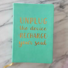 New UNPLUG THE DEVICE RECHARGE SOUL Journal Inspiring Diary Eccolo Turquoise