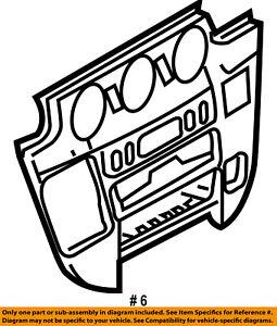 Dodge CHRYSLER OEM Sprinter 2500 Instrument Panel Dash-Center Bezel 5122372AA