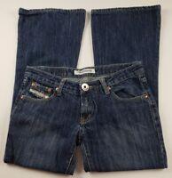 YDOULIZI YDZ Womens Jeans Sz 30 Bell Bottom Flare Mid Rise Medium Wash Denim **