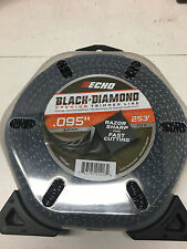 ECHO 0.095 in. Diamond Black Trimmer Line Spool Sharp Weed Cutter String