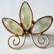 Prehnite Copper Mixed Metals Statement Ring Size 7
