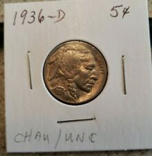 1936-D Buffalo Nickel Nice AU++++ BU Mint Luster