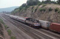 AMTRAK Railroad Locomotive 269 ALTOONA PA Original 1985 Photo Slide