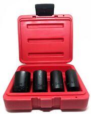 "4pcs Lug Nut Wheel Lock Remover Set 1/2"" Multi Sockets 17mm 18.5mm 21.5mm 26mm"