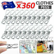 Upto 240x Stainless Steel Clothes Pegs Hanging Clip Pins Laundry Windproof Clamp