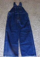 MENS DICKIES BLUE JEAN BIBS SIZE 44 X 30 (44 X 31 ACTUAL SIZE)