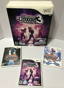 Nintendo Wii - Dance Dance Revolution (DDR) Hottest Party With 3 Games +Mat L@@K