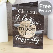 Personalised I Love You To The Moon & Back Card Birthday Valentines Anniversary