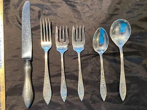 STIEFF LADY CLAIRE STERLING FLATWARE SET FOR 4 WITH 6 PIECES PER SETTING 24 PCS.
