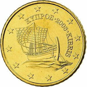 [#699521] Chypre, 50 Euro Cent, 2008, FDC, Laiton, KM:83