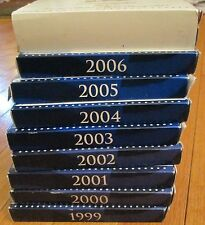 1999 to 2007 Proof Set 99 00 01 02 03 04 05 06 07  Proof set 9 sets Box & COA