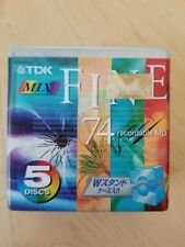 TDK Mix Fine 74 Recordable MD 5 New/Sealed
