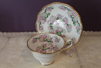 ROYAL ALBERT TEA CUP AND SAUCER - MAY BLOSSOM