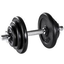 Mancuerna con pesas 20kg halteras de fitnes acero hierro musculación gimnasio