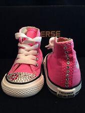 Custom Converse All-Star Infant/Toddler Hi-Top Pink Swarovski Flowerette