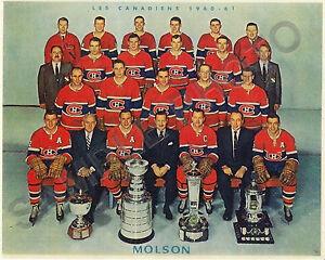 1960-61 MONTREAL CANADIENS 8X10 TEAM PHOTO PLANTE BELIVEAU RICHARD GEOFFRION #2