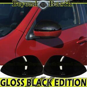 For 2011-2014 Nissan Juke 09-14 Cube TOP HALF GLOSS BLACK Mirror Covers Overlay