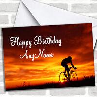 Cycling Bike Personalized Birthday Card