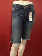 GUESS Los Angeles Women's Brittney Denim Long Bermuda Shorts - Size 25 - NWT $69