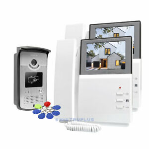 HOMSECUR 4.3'' Video Door Entry Intercom System with Multiple Headset Monitors