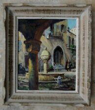 Tableau original Léo Fontan 1930 vieille Fontaine de Peille Alpes-Maritimes