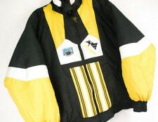 Vintage 90s Pittsburgh Penguins Puffer Winter Jacket Coat REVERSIBLE Mens Large