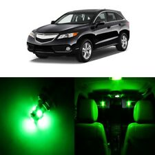 13 x Green LED Interior Lights Package Kit For Acura RDX 2013 - 2018 + Pry TOOL
