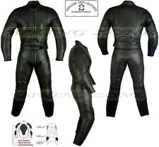 WOMENS BLACK CAT LADIES CE ARMOUR MOTORBIKE / MOTORCYCLE LEATHER SUIT