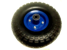 """2 pc  10""""  Hand Trolley SOLID Wheel Replacement 3.50-4"""